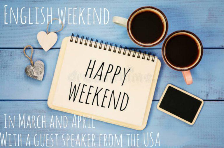 У березні та квітні 2018 English Weekend з носієм мови з США